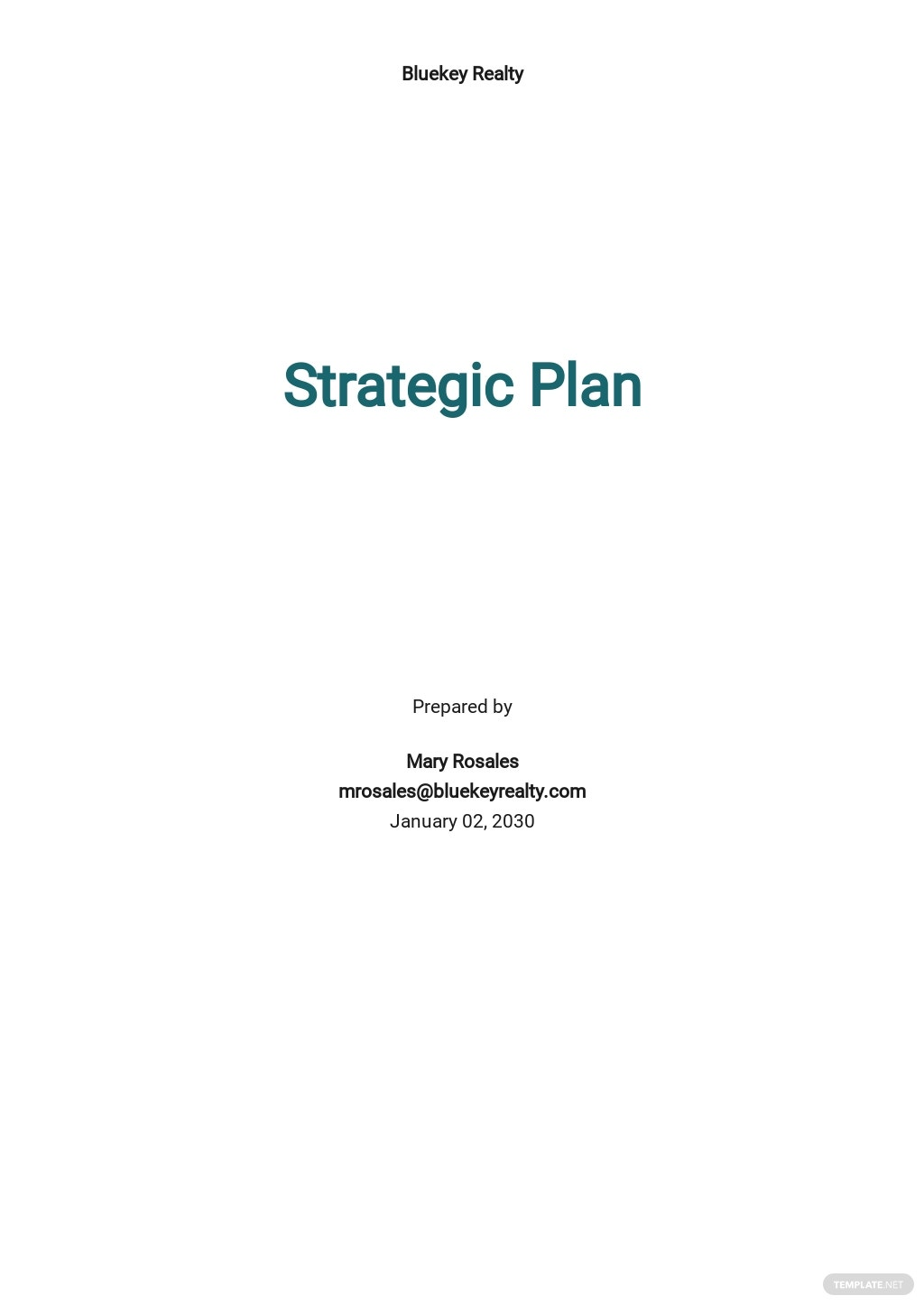 Real Estate / Property Strategic Plan Template