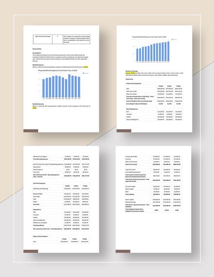 Realtor Business Plan Template Word Google Docs Apple