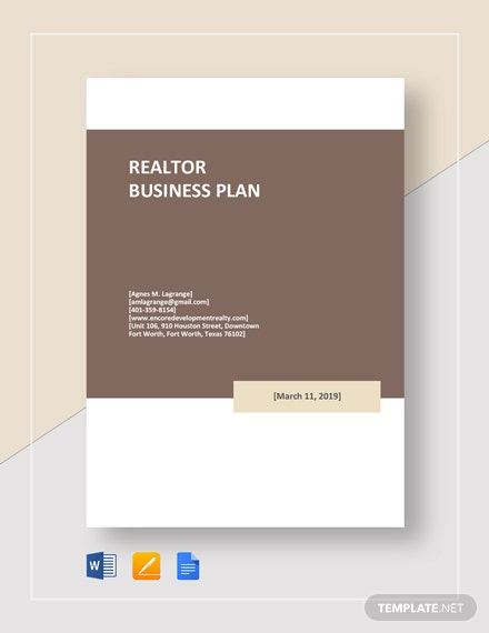 Realtor Business Plan Template