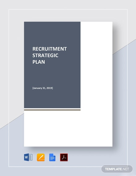 Recruitment Strategic Plan Template