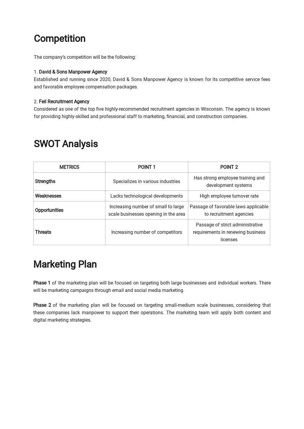 Recruitment/Staffing Agency Business Plan Template 2.jpe