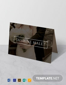 Free Wedding Place Name Card Template