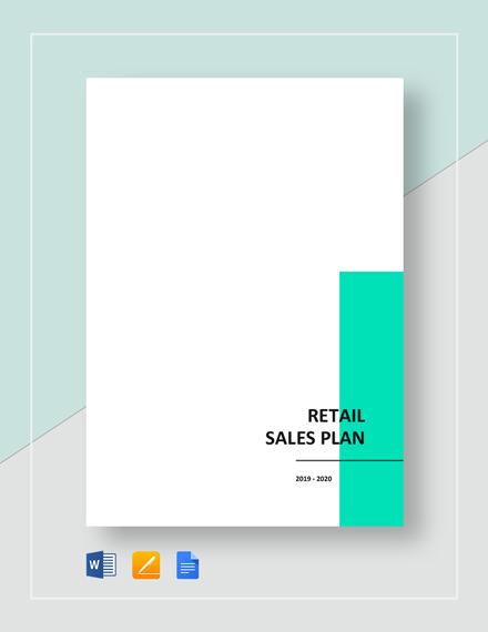 Retail Sales Plan Template