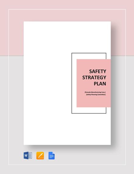 Safety Strategy Plan