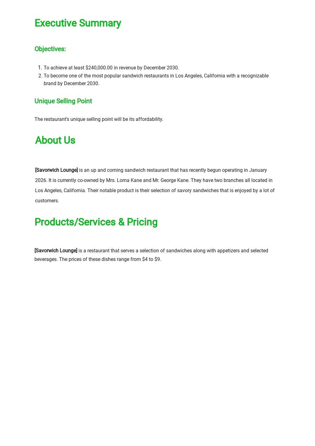 Sandwich Restaurant Business Plan Template 1.jpe