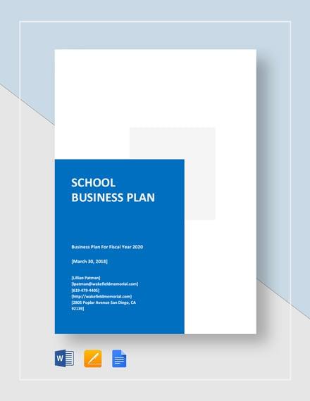 School Business Plan