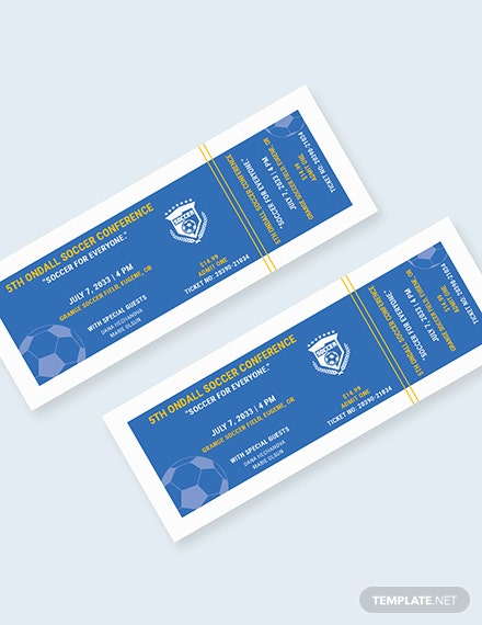 Soccer Field Reserved Event Ticket Download