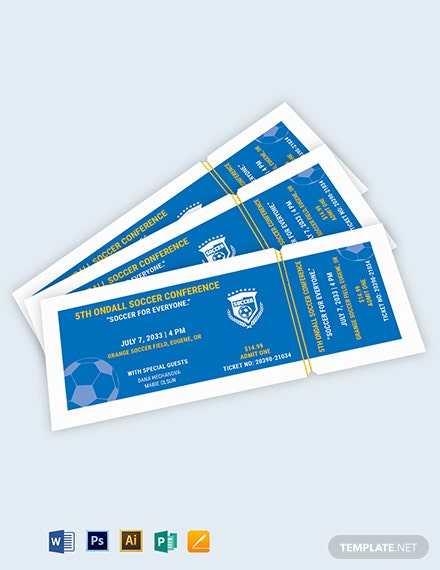 Soccer Field Reserved Event Ticket Template
