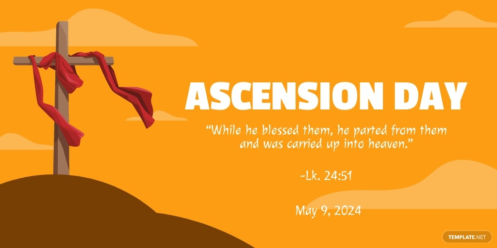 Ascension Day Twitter Post Template