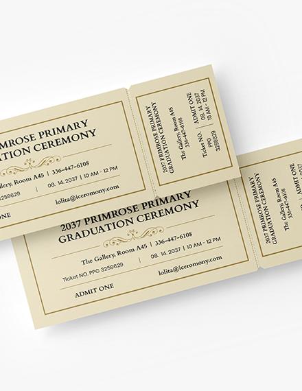 Graduation Diploma Event Ticket Download