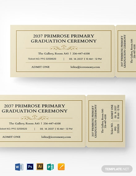 Graduation Diploma Event Ticket Template