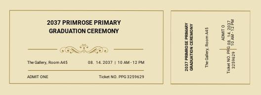 Graduation Diploma Event Ticket Template