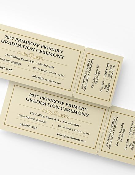 Sample Graduation Diploma Event Ticket