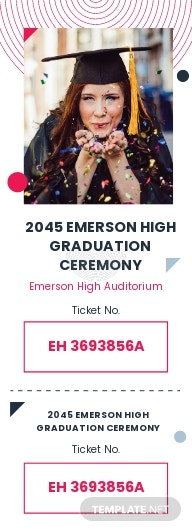Graduation Event Ticket Template
