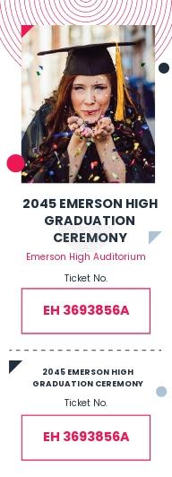 Graduation Event Ticket Template