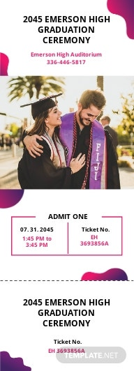 Graduation Gift Ticket Template