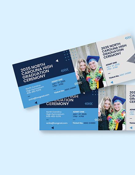 Sample Graduation Party Ticket