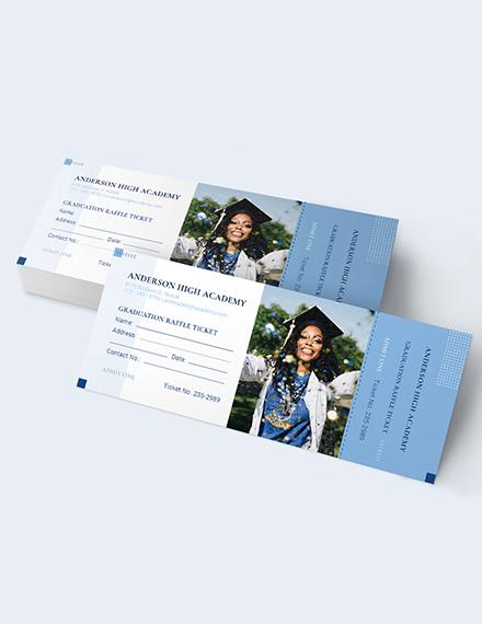 Sample Graduation Raffle Ticket