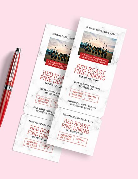 Graduation Ticket Invitation Download