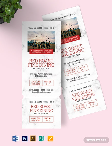 Graduation Ticket Invitation Template
