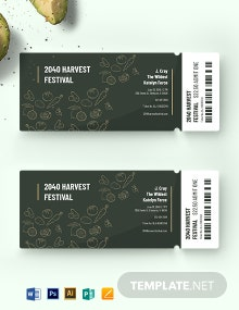 Harvest Festival Ticket Template