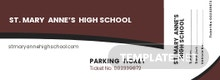 High School Parking Ticket Template