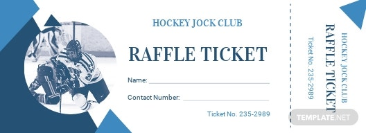 Hockey Raffle Ticket Template