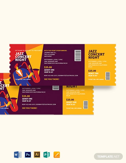 Jazz Concert Ticket Template