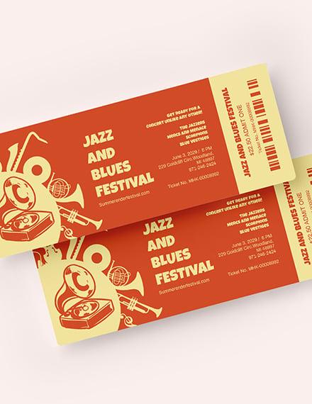 Jazz Festival Ticket Download