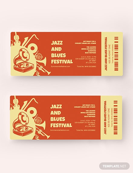 Sample Jazz Festival Ticket
