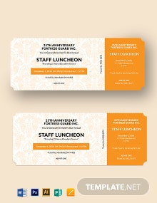 Luncheon Food Ticket Template