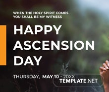 Free Ascension Day YouTube Channel Cover Template