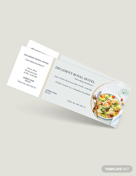 Meal Food Ticket Download