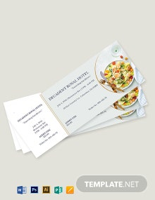 Meal Food Ticket Template