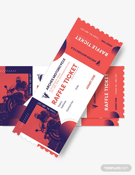 Motor Cycle Raffle Ticket Download