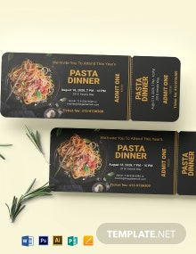 Pasta Dinner Ticket Template