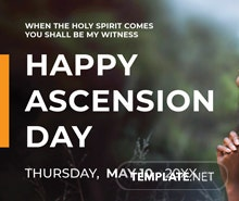 Free Ascension Day YouTube Video Thumbnail Template