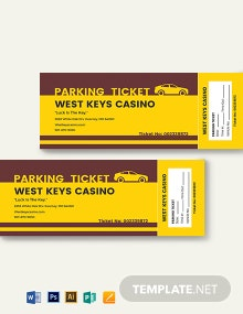 Penalty Parking Ticket Template
