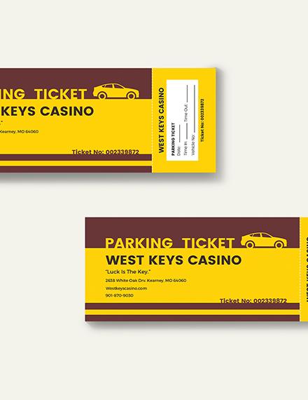Sample Penalty Parking Ticket