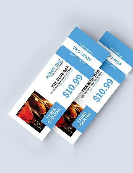 Printable Drink Ticket Download