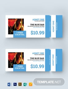 Printable Drink Ticket Template