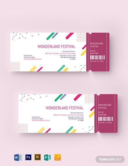 Printable Festival Ticket Template