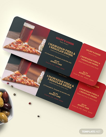 Printable Food Ticket Download