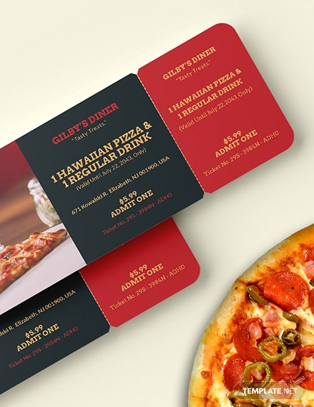 Sample Printable Food Ticket