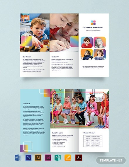 Kindergarten Brochure Template