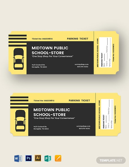 Printable Parking Ticket Template