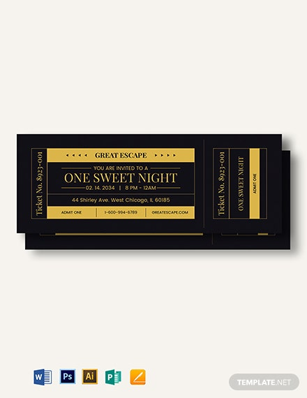 Prom Admission Ticket Template