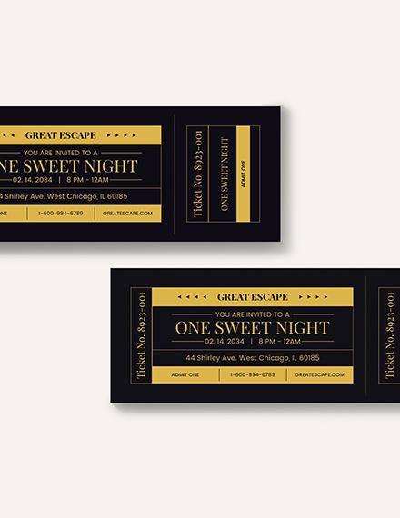 Sample Prom Admission Ticket