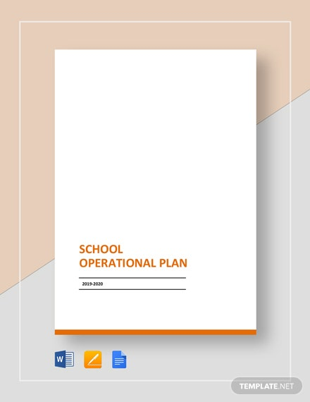 School Operational Plan Template