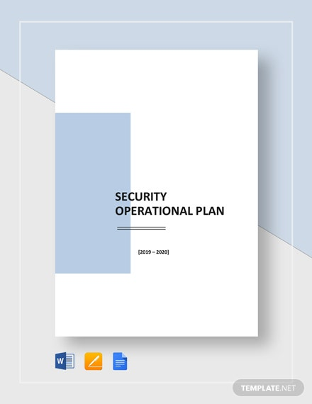 Security Operational Plan